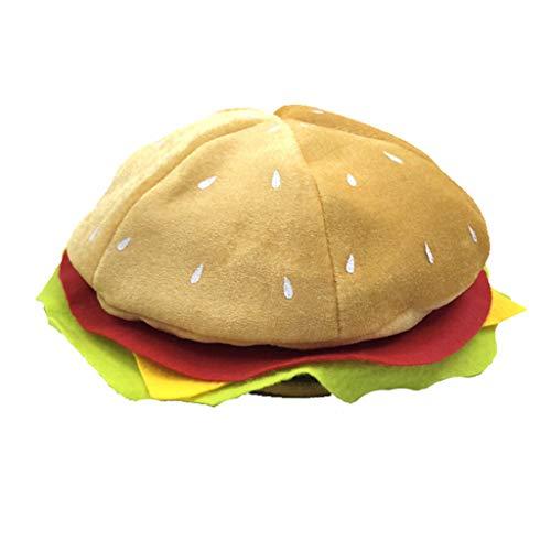 Yushu Sombrero divertido de comida rpida para adultos con forma de hamburguesa, disfraz de carnaval de Halloween, sombrero divertido para nio y nia, regalo para cosplay, fiesta de Pascua
