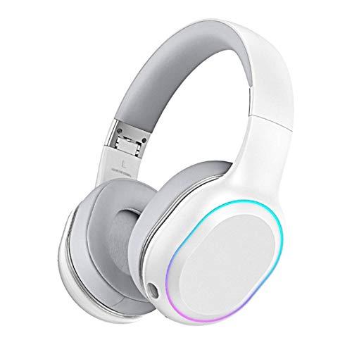 ACEMIC Kabelloses Gaming-Headset, Hochauflösende Lautsprechertreiber, 7.1 Surround Sound,2.4 Ghz Wireless, Noise-Cancelling Mikrofon, Wireless Verbindung, 30 Stunden Akkulaufzeit, PC/Mac,Weiß