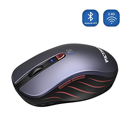 VICTSING Ratón Inalámbrico Bluetooth 4.0 & 2.4G, 5 dpi Adjustables y Control de Multi-Dispositivo, para PC, Computadora, Portátil, Mac, y Tableta Andorid, Móviles Inteligentes