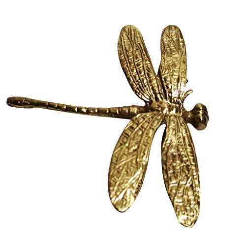 beioust Pure copper dragonfly handle gold drawer cabinet door cabinet handle