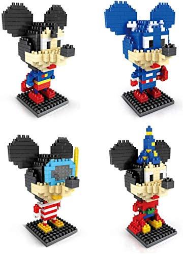 FJJF Children's Building Blocks Mickey Minnie Educational Toys Mini Diamond,3D Three-Dimensional Puzzle DIY Birthday GIF