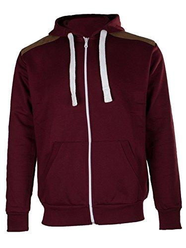 Love My Fashions - Sweat-shirt à capuche - - Uni Homme - Rouge - Bordeaux - moyen