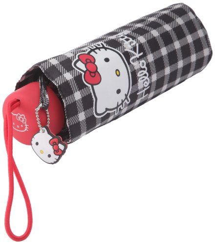 Sanrio paraguas – Hello Kitty – cuadros Mini – azul