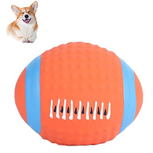 Pssopp Kauspielzeug für Hunde Quietschespielzeug für Hunde Latex Rugbyball Training, Zahnreinigung und Interaktives Spielzeug