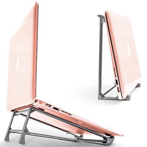 Laptopständer vertikal für iPad Tablet, Aluminium Laptop Halter MacBook Pro Ständer belüftet abnehmbar kompatibel mit 10-17 Zoll, Laptop Riser Kühler für Laptop Tisch Bürozubehör