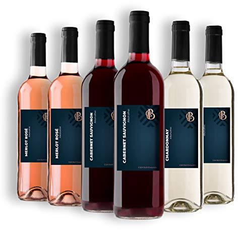 C & H Buhl Exquisite - Wein-Paket Alkoholfrei - Rotwein, Weißwein, Rosé - 6x 0,75 L