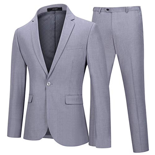 Mens One Button Formal 2-piece Suits Tuxedo Multi-color Slim Fit