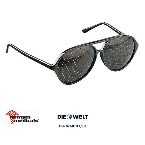 newgen medicals Lochrasterbrille: Lochbrille (Rasterbrille) - der Augentrainer (Gitterbrille)