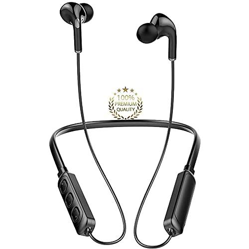 Écouteurs Bluetooth Sport Écouteurs Intra-Auriculaires Bluetooth puissants, IPX7 étanches, Haute qualité sonore, 120 Heures de Lecture, appairage Automatique,pour iPhone, Xiaomi, Android (Noir)