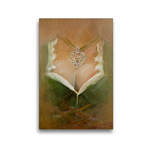 Premium Textil-Leinwand 30 x 45 cm Hoch-Format Holz vor der Hütt´n | Wandbild, HD-Bild auf Keilrahmen, Fertigbild auf hochwertigem Vlies, Leinwanddruck von Brigitte Kaul