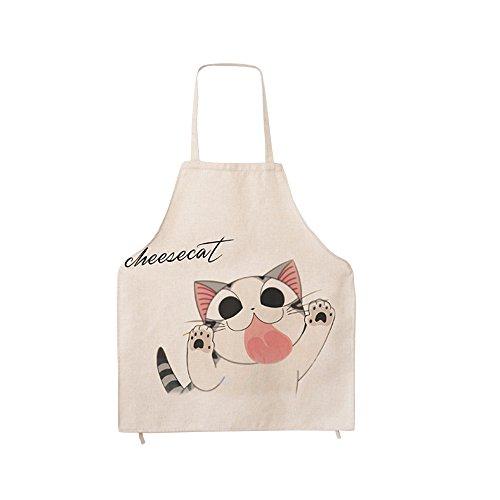 G2PLUS Baumwolle Karikatur Schürze Süße Muster Küchenschürze Modische Aprons Großes Geschenk für Kinder und Mädchen