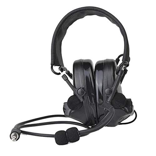 GODNECE Headset Airsoft, Kopfhörer Taktisch Headset Z-TAC ZComtac II Headset Wasserdichtes taktisches Headset Geräuschreduzierender taktischer Kopfhörer mit Mikrofon