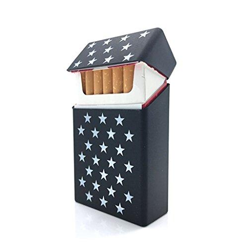 Etui Cigarette Noir Souple et Etoiles Blanches