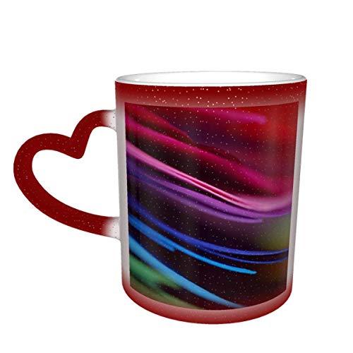 Papel de entrenamiento escolar Color colorido Color verde suelto Taza que cambia en el cielo Taza de cerámica Taza de café Regalo de cumpleaños de Navidad