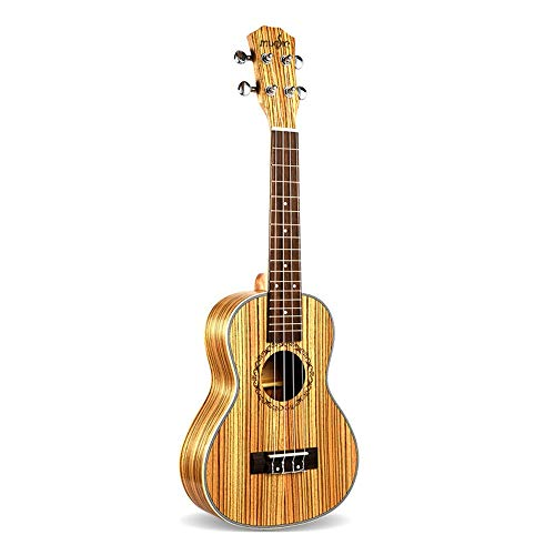 NIMEDI Ukulele Neue 23-Zoll-Konzert-Ukulele 4-String-Hawaiianische Mini-Gitarre Uku Akustikgitarre Geschenk