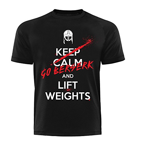 GODSRAGE T-Shirt Berserker Training Trainingsbekleidung Damen Herren Sport Bodybuilding (4 XL)