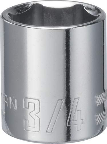 CRAFTSMAN Shallow Socket, SAE, 3/8-Inch Drive, 3/4-Inch, 6-Point (CMMT43007)