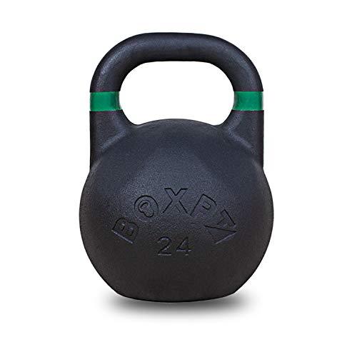 BOXPT equipment Kettlebell da competizione Powder Coated, 20 kg, colore: nero e viola
