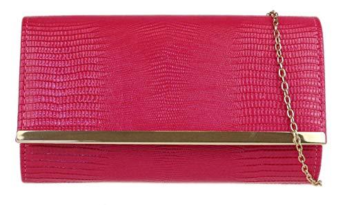 Girly Handbags del bolso de embrague de Croc Efecto - Fucsia