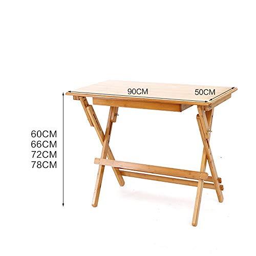 HCYTPL Houten inklapbare bamboestudio bureau massief houten pupilla schrijftafel kinderen schrijven