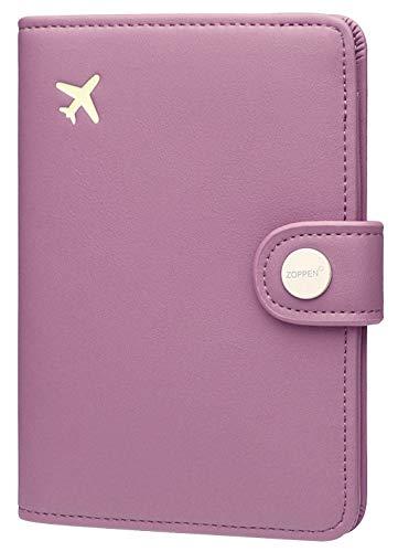 Zoppen Passport Cover Rfid Blocking Travel Passport Wallet Slim Id Card Case (#34 Elegant Purple)