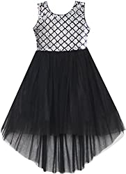 Shining Black With Sequin & Mesh Princess Tulle Dress