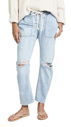 One Teaspoon Women's Shabbies Drawstring Boyfriend Jeans, Hustler, Blue, Small
