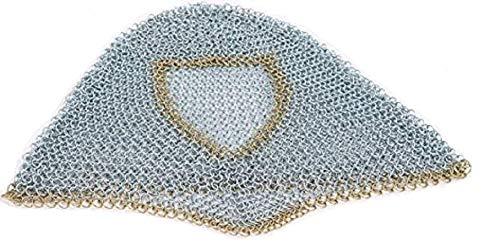 Mythrojan Chainmail Coif Medieval Knight Renaissance Armor Chain Mail Hood Viking LARP 16 Gauge