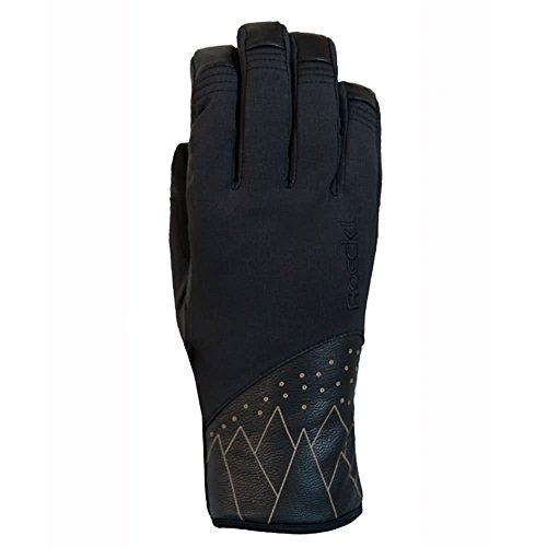 Roeckl Damen Canaan Handschuhe, schwarz (000), 7.5
