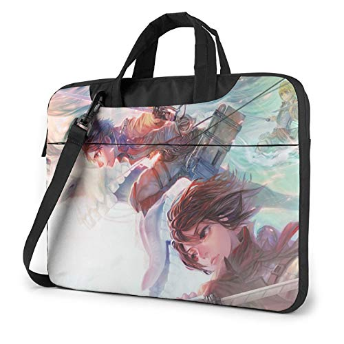 Attack on Titan Anime Laptop Sleeve Bag Messenger Bag Ultra Portable Protective Shoulder Tablet Notebook Computer Carrying Case For15.6 inch