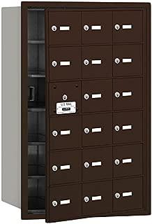 Salsbury Industries 3618ZFU 4B Plus Horizontal Mailbox, 18 A Doors 17 Usable, Front Loading, USPS Access, Bronze