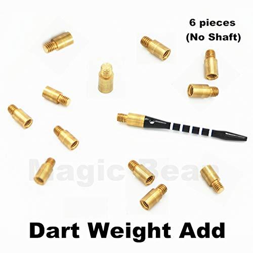 6 Stück Professionelle 1,5 g Dartgewichte Accentuator Werkzeug Zubehör 2BA Gewinde Einheitsgröße 6Teile