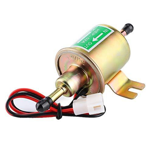 Akozon Bomba de combustible eléctrica diésel de Gas en línea 12V 3-6 PSI de baja presión HEP-02A HEP02A para coche, camión, barco