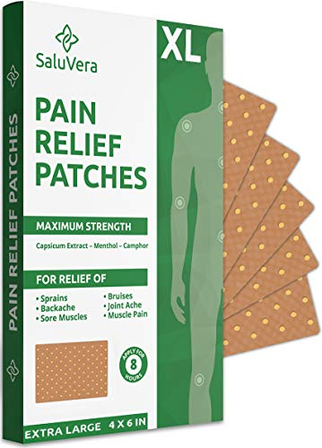 Pain Relief Patches – Extra Large Patch Maximum Strength - Pain Relieving Patch - Back Patches for Pain - Muscle and Joint Heat Patches for Pain Relief Patch - 10 Hot Pain Patches(XL)