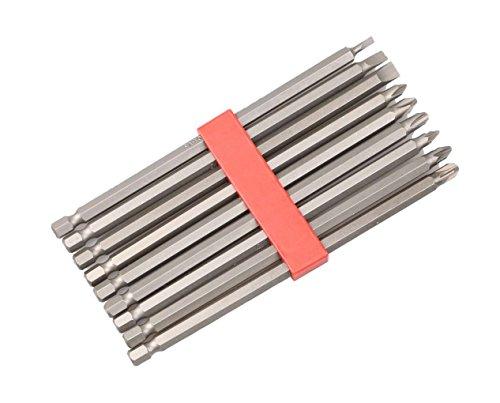 Hilka herramientas 379370099PCE 150mm CRV Extra larga juego de puntas, color rojo y plateado