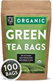 Organic Green Tea Bags | 100 Tea Bags | Eco-Conscious Tea Bags in...