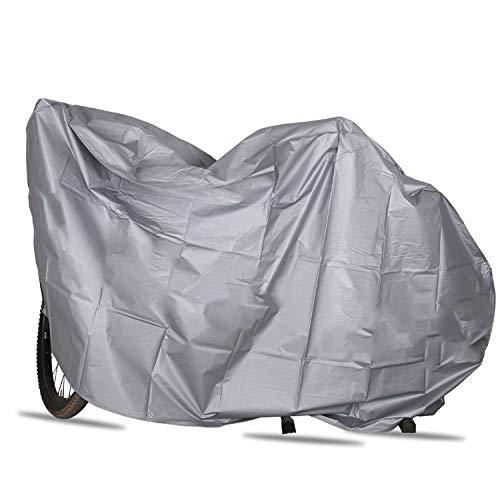 B&F Funda para Bicicleta Protectora/Cubierta para Bicicletas Impermeable Hecho con Plástico Tejido Reforzado contra Sol/Aire/Viento/Polvo/Suciedad/Agua Fácil De Colocar 2Metros (Gris)