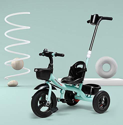 Dreirad Kinderdreirad Fahrrad Free Angel Kinder Kleinkinder Baby   Sicherheitsgurt   abnehmbare Lenkstange   verstellbare Fußablage  ,Blue