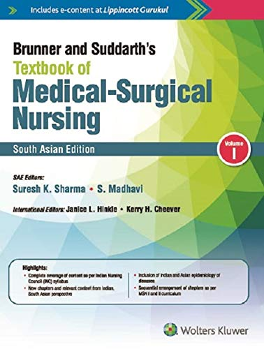Brunner and Suddarth's Textbook of Medical-Surgical Nursing South Asian Edition (VOLUME1&2)