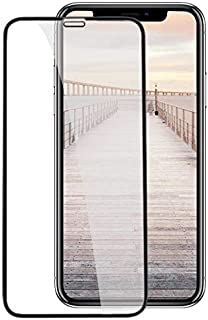 شاشة حماية بدرجة امالة 9 من الزجاج المقوى لموبايل ايفون XR من ابل - لون اسود