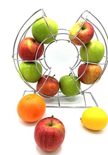 LIMITIERTE STÜCKZAHL - Moderner eleganter Obstkorb im Karusseldesign / Metall / Obstschale / Fruchtkorb / Früchtekorb / Obst Aufbewahrung