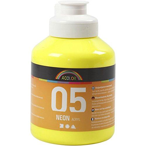 Peinture acrylique A-Color, jaune néon, 05 - fluo, 500ml