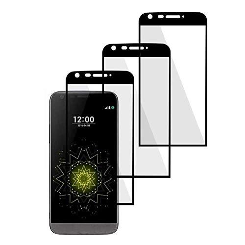 Siumir Protector de Pantalla para LG G5 Pulgada Total Protector de Cristal Templado Alta Definicion 9H Dureza Anti-Rasguños Screen Protector 3 PCS