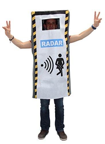 Foxxeo Divertido Disfraz de cámara de Velocidad para Hombres Adultos Disfraz de Radar de Radar Disfraz de JGA Despedida de Soltero, tamaño: L