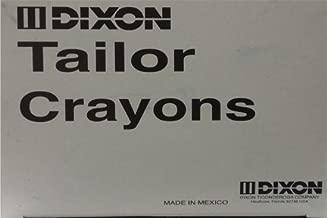 Crayon para sastre azul, caja con 24 piezas.