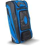 Bownet Commander Catchers Bag -14 Pockets - Travel Bag - Perfect for Baseball Softball Equipment - Stores Gear Bats Helmets Uniforms - Strong Roller Wheels - Royal Blue - 41' H x 17' W x 10.5' D