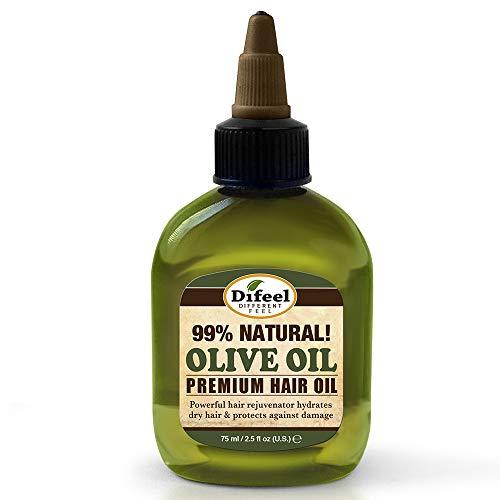Difeel Premium Natural Hair Oil - Olive Oil 2.5 ounce (6-Pack)