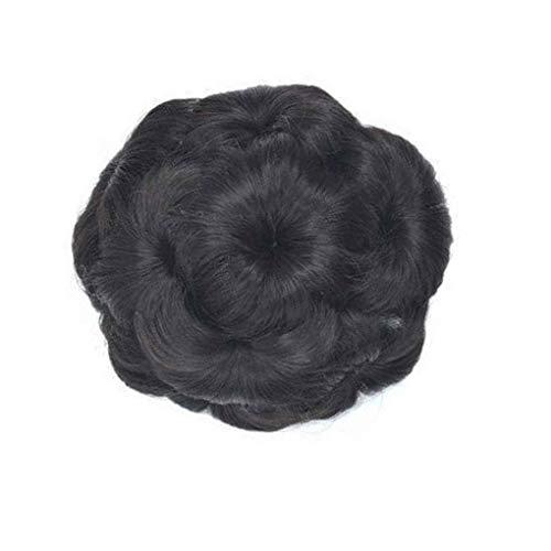 Elenxs Multi Couleurs Messy Wavy Extensions de cheveux bouclés Chouchous extensions de cheveux, clip de fleurs Fleurs Chignons Ponytail postiches