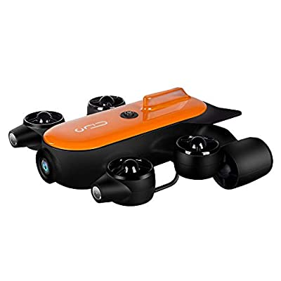 Geneinno Titan Professional Underwater Drone ROV AUV Robot 4K UHD Action Camera Remote Control Real-time Steaming Undersea Detection for Rescue, Viewing, Recording, Fishing, Salvage Work, 150M Tether