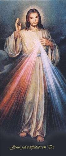 'Jésus j'ai confiance en Toi' - Imitation d'Adolf Hyla - Lot de 10 Signets - format 7x10 cm